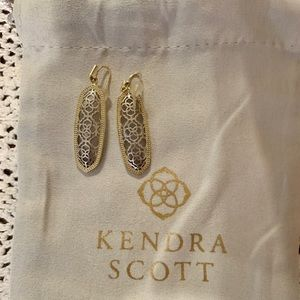 Kendra Scott Filigree Gold and Silver Earrings